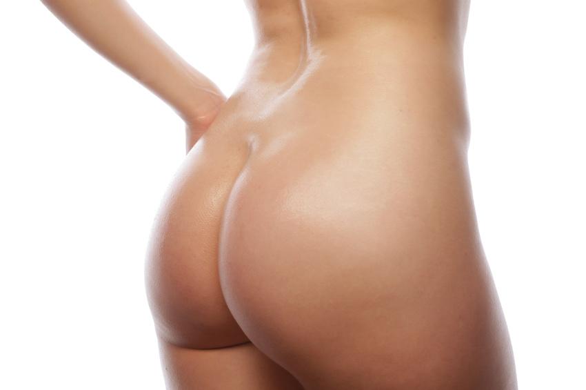 B w nackte weibliche Hintern