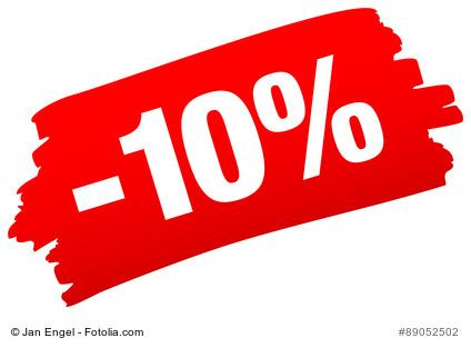 Prozent Rabatt